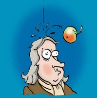 Newton never ate the apple alone but grabbed the knowledge
