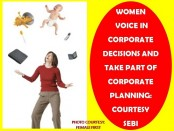 WOMEN TO VOICE IN CORPORATE DECISION