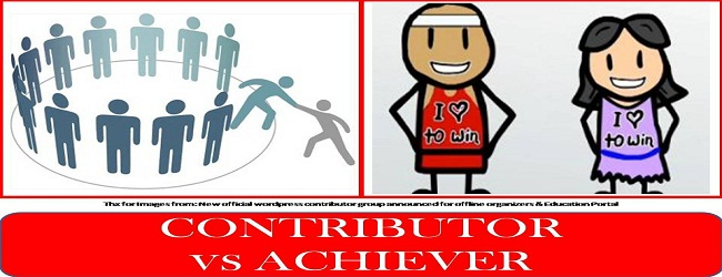 ACHIEVER OR CONTRIBUTOR