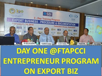FTAPCCI EVENT ON STARTING EXPORT BUSINESS