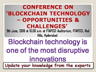 ONE-DAY CONFERENCE ON 'BLOCKCHAIN TECHNOLOGY – OPPORTUNITIES & CHALLENGES'