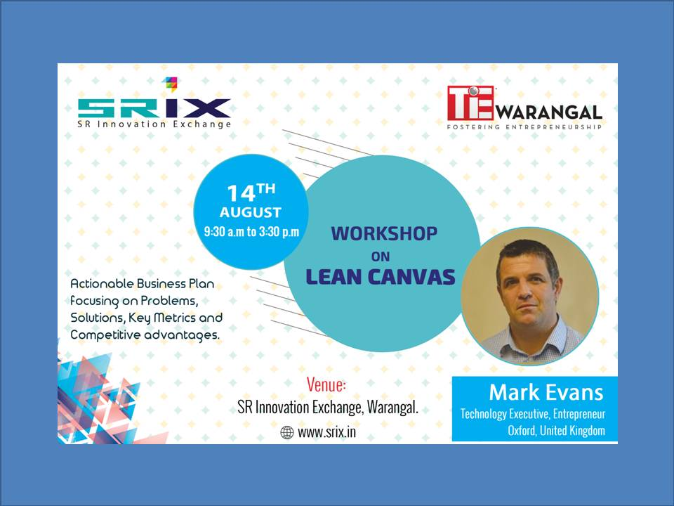 Lean canvas event at SRiX