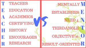 Mentor Vs Teacher
